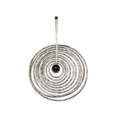 Georg Jensen Georg Jensen Sterling Silver and Amethyst Pendant Designed By Bent Gabrielsen