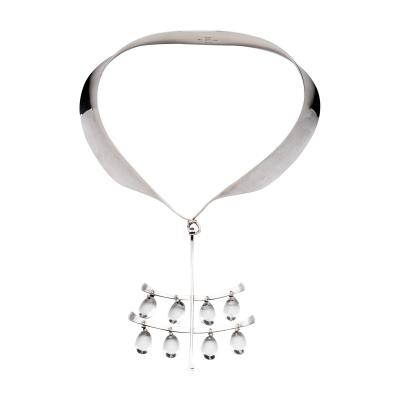 Georg Jensen Georg Jensen Torun Necklace with Tear Drop Quartz