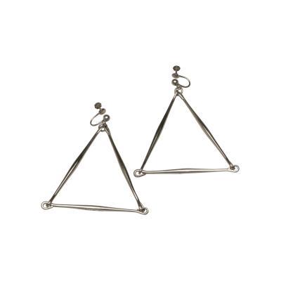 Georg Jensen Pair of Georg Jensen Sterling Earrings Designed By Astrid Fog