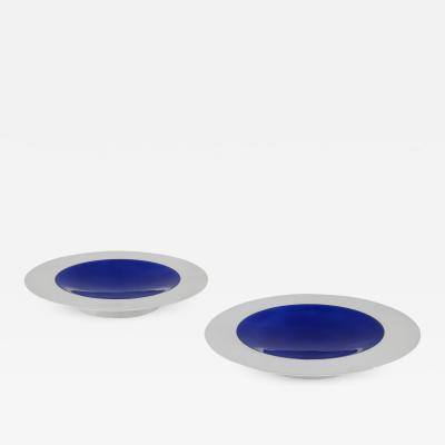 Georg Jensen Pair of Modern Georg Jensen Enamelled Dishes 1079