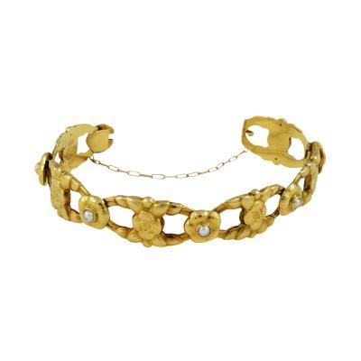 Georg Jensen Rare Vintage Georg Jensen 18kt Gold Bracelet with Pearls