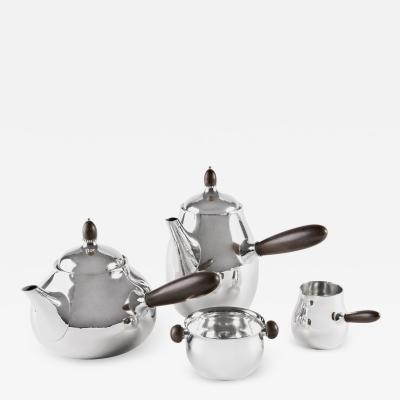Georg Jensen Vintage Four Piece Georg Jensen Tea Service 80