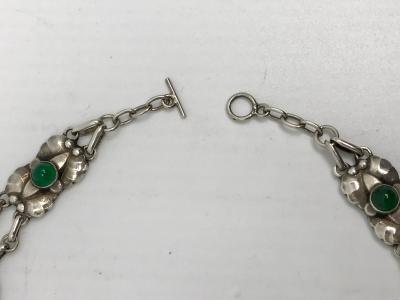Georg Jensen Vintage Georg Jensen Necklace 2 Green Agate