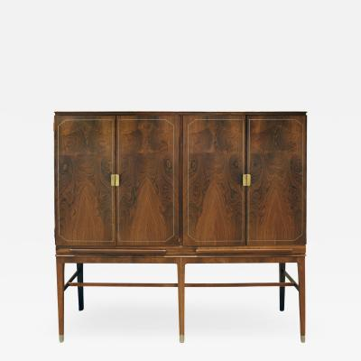 Georg Kofoed Georg Kofoed 4 Door Cabinet in Brazilian Rosewood with Inlays 1930s signed