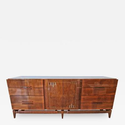 Georg Kofoed Georg Kofoed Danish Modern Rosewood and Silver Inlaid Sideboard 1950s