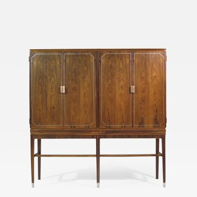 Georg Kofoed Georg Kofoed Rosewood Cabinet with Eight Karat White Gold Inlay