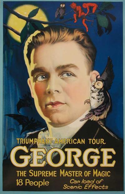 George An American Magician Poster circa 1928
