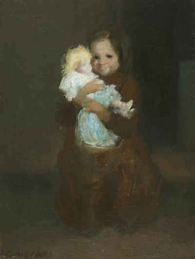 George Benjamin Luks Child with Doll