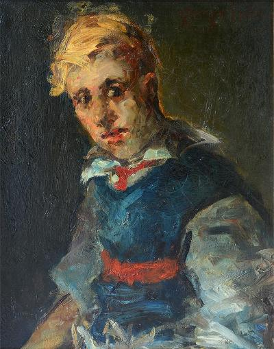 George Benjamin Luks Portrait of a Boy
