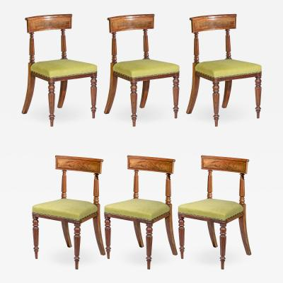 George Bullock Early 19th Century Set of Six Regency Dining Chairs