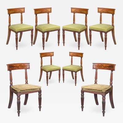 George Bullock Eight Antique Regency Dining Chairs 19th Century