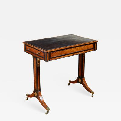 George Bullock Regency Burl Yew and Ebony Writing Table