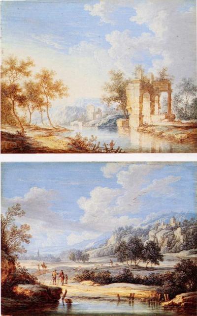 George Christoph Gottlieb River Landscapes