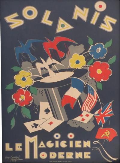 George Cond French Art Deco Poster by George Conde