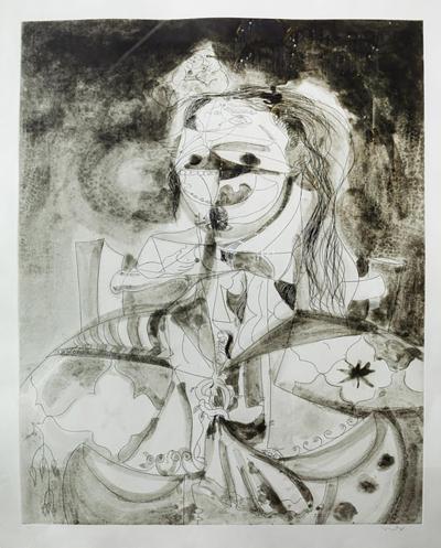 George Condo More Sketches of Spain 7 by George Condo