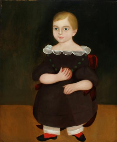 George Gassner Child Holding a Peach