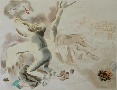 George Grosz Christus am Oelberg