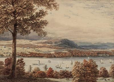 George Harvey View of the Hudson by George Harvey