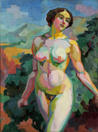George Henri Tribout A Fauvist Female Nude