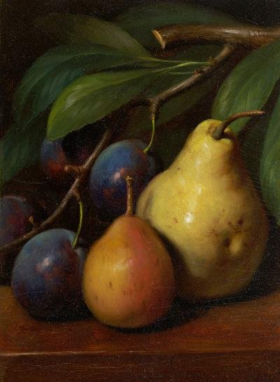 George Henry Hall Pears and Plums