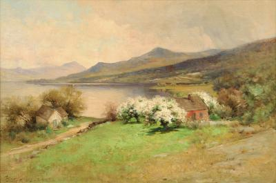 George Henry Smillie SPRINGTIME AT THE LAKEHOUSE