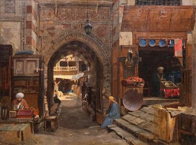 George Henry Yewell Entrance to the Old Slave Market Cairo 1885