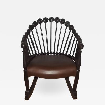 George Hunzinger 19th Century Hunzinger Attributed Lollipop Rocking Chair
