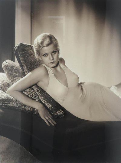 George Hurrell Large Scale Iconic Photograph of Jean Harlow by George Hurrell 1932