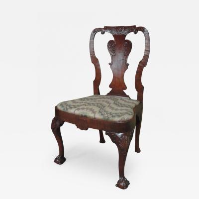 George I Walnut Veneer Side Chair