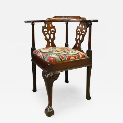 George II Mahogany Corner Chair