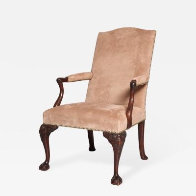 George II Mahogany Gainsborough Chair
