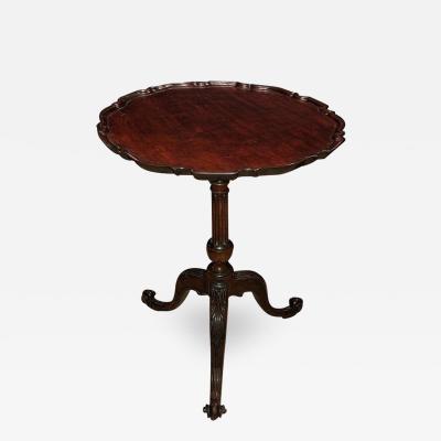 George II Mahogany Scroll Foot Pie Crust Table
