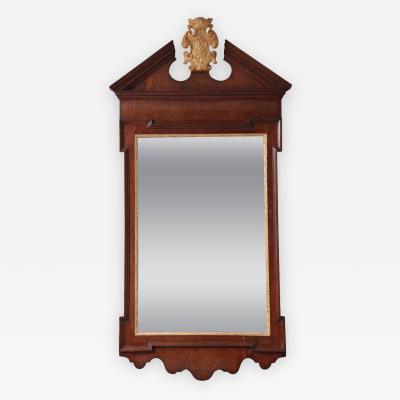 George II Plum Pudding Mahogany and Parcel Gilt Mirror