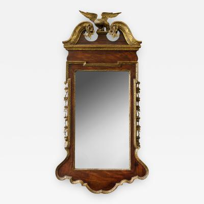 George II Scrolled Arch Parcel Gilt Mirror