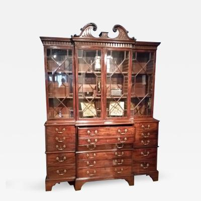George III Breakfront Bookcase with Secretaire Drawer