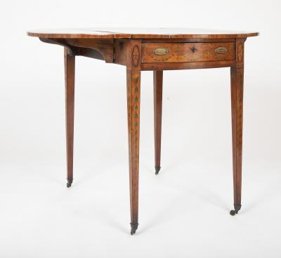 George III Hepplewhite Pembroke Table with Painted Classical Designs