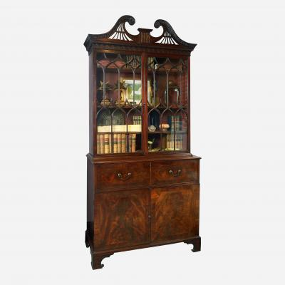 George III Inlaid Mahogany Secretaire in the manner of Thomas Chippendale