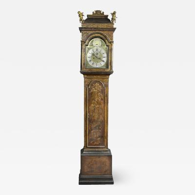 George III Japanned Tall Case Clock By William Harvey