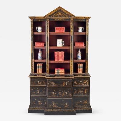 George III Jappaned Breakfront Cabinet