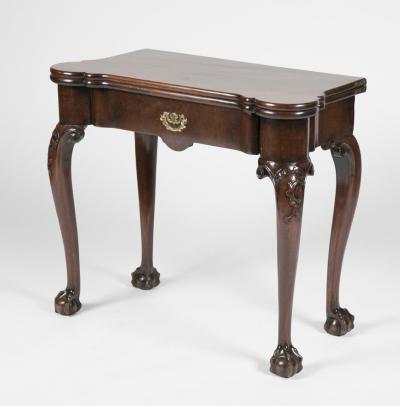 George III Mahogany Games Table