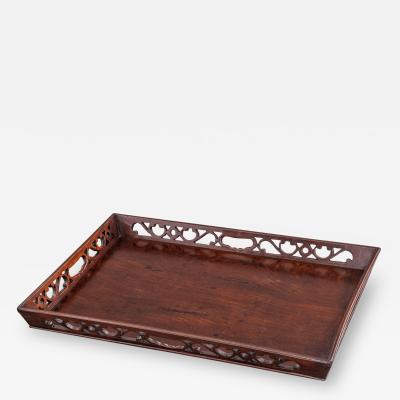 George III Mahogany Tray of Generous Proportions