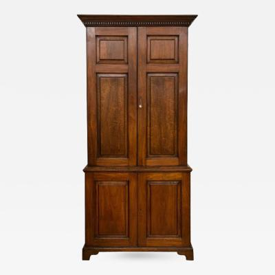 George III Mahogany Two Part Cabinet