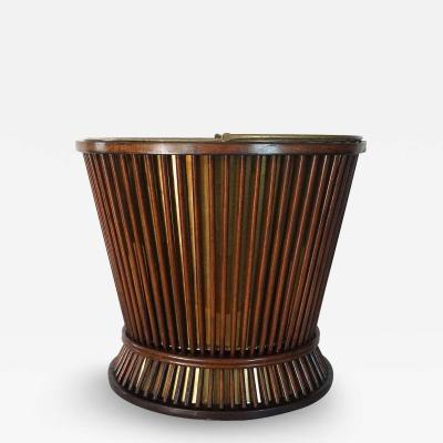 George III Mahogany and Brass Peat or Kindling Bucket