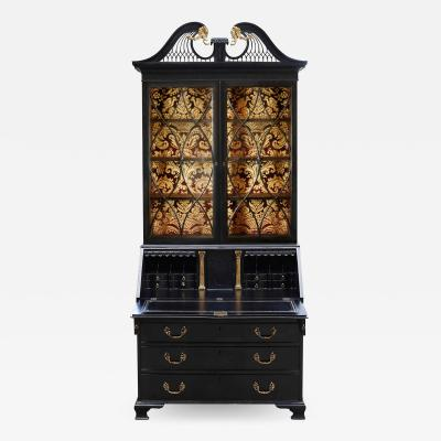 George III Parcel Gilt Secretary Bookcase with Provenance