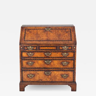George III Period Yew Wood Slant Front Desk