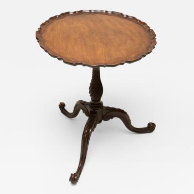 George III Piecrust Birdcage Tilt Top Table