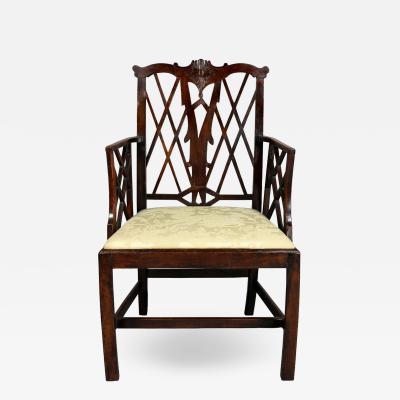 George III Yewwood Cockpen Armchair