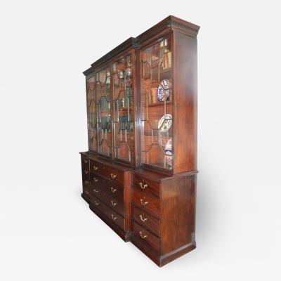 George III breakfront bookcase 18th century