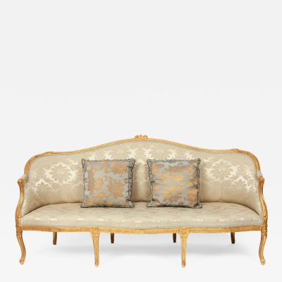 George III period giltwood sofa in the Chippendale manner