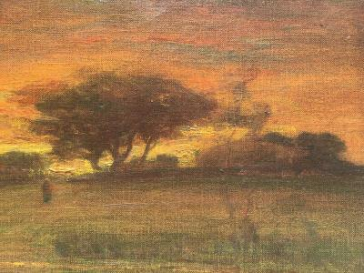 George Inness Sunset Walk to the Village